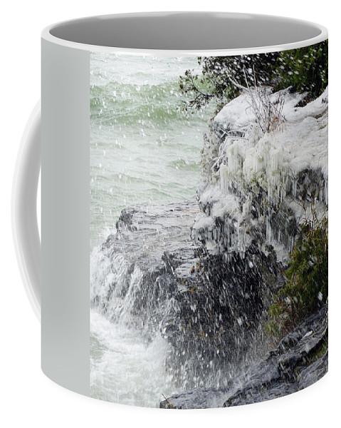 Splash Coffee Mug featuring the photograph Winter Splash by David T Wilkinson