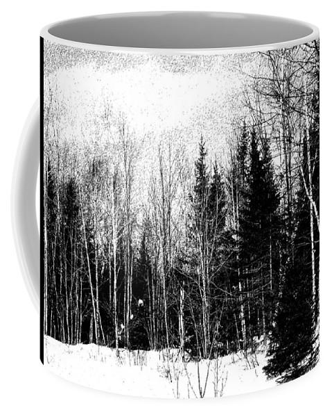 Landscape Coffee Mug featuring the digital art Winter Stoic by William Tasker