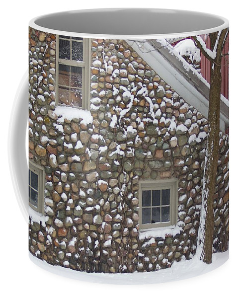 Winter Coffee Mug featuring the photograph Winter Stone Pattern by Randy Pollard