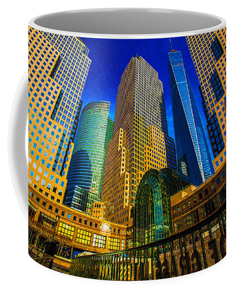 New York Coffee Mug featuring the photograph Winter Sunshine In Battery Park City by Chris Lord
