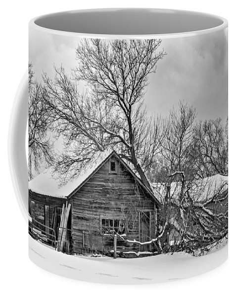 Winter Coffee Mug featuring the photograph Winter Thoughts Monochrome by Steve Harrington