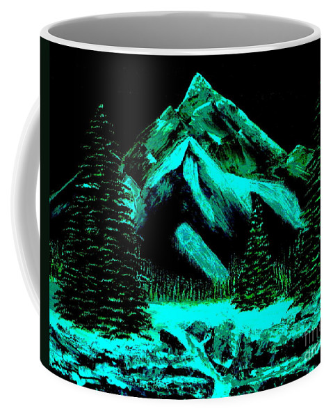 Winter Coffee Mug featuring the painting Winter by Tim Townsend