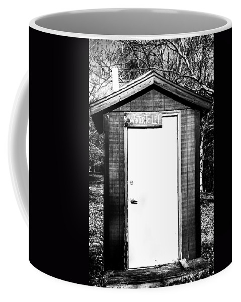 Winter Toilet Coffee Mug featuring the photograph Winter Toilet by Karol Livote