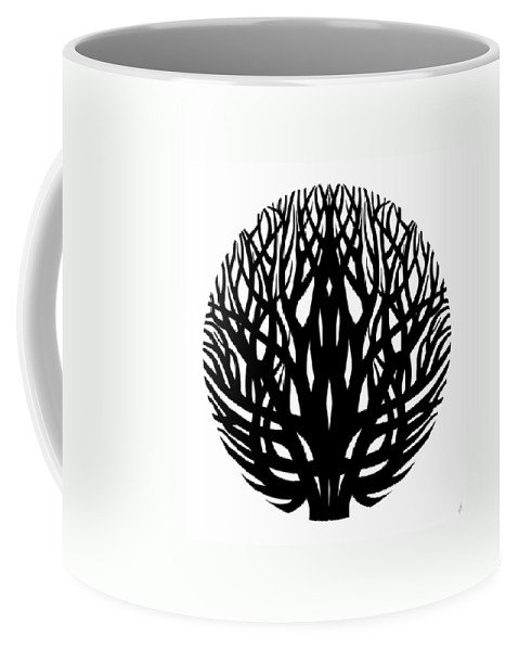 Tree Coffee Mug featuring the drawing Unity - Winter Tree by Anna Joanna Zborowska