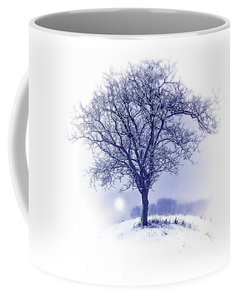Tree Coffee Mug featuring the photograph Winter Tree On Hill by Movie Poster Prints