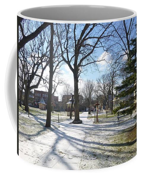 Ocean Grove Coffee Mug featuring the photograph Winter Tree Shadows by Ellen Paull