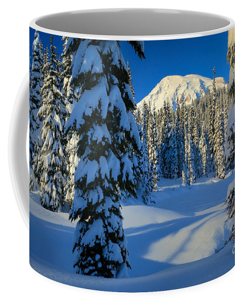 America Coffee Mug featuring the photograph Winter Trees by Inge Johnsson
