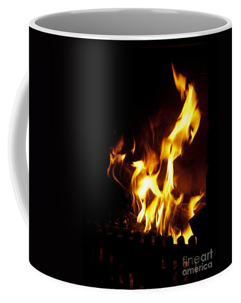 Fireplace Coffee Mug featuring the photograph Winter Warmth by Ann Horn