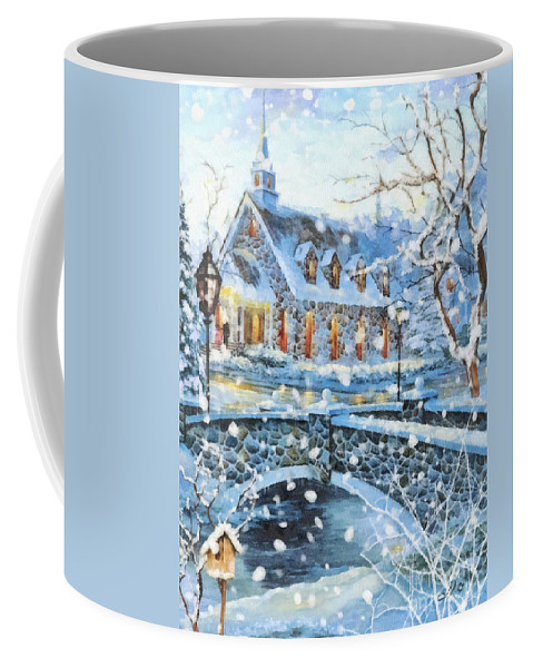 Winter Wonderland Coffee Mug featuring the painting Winter Wonderland by Mo T