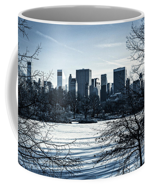 Winter Coffee Mug featuring the photograph Winter's Touch - Manhattan by Madeline Ellis