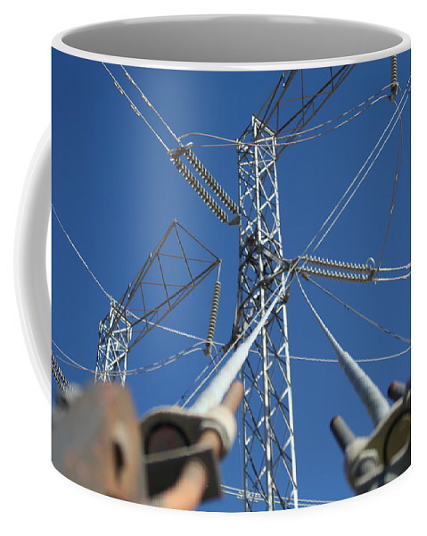 Electricity Coffee Mug featuring the photograph Wires by David S Reynolds