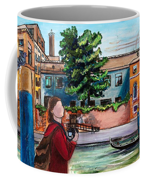 Tmgand Coffee Mug featuring the painting Wish You Were Here by TM Gand
