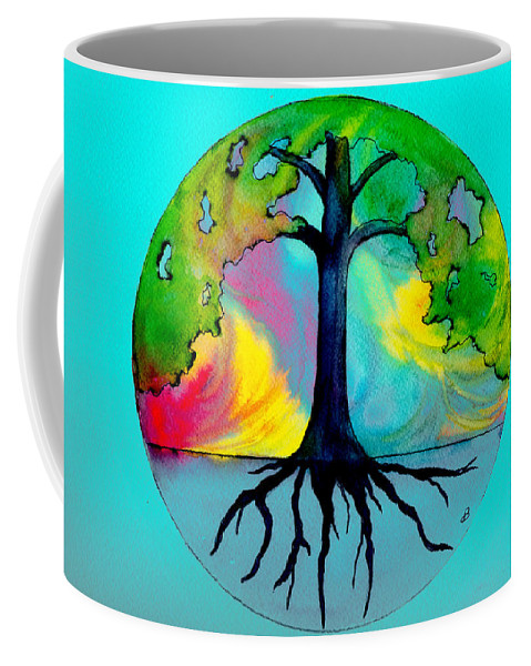 Watercolor Coffee Mug featuring the painting Wishing Tree by Brenda Owen