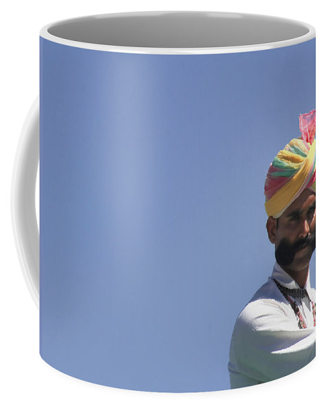 India Coffee Mug featuring the photograph With Great Mustache Comes Great Responsibility by A Rey