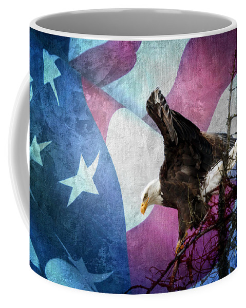 With Liberty Coffee Mug featuring the photograph With Liberty by Beve Brown-Clark Photography