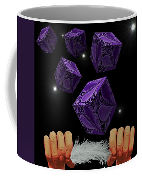 Digital Art Coffee Mug featuring the digital art With The Lightest Touch by Barbara St Jean