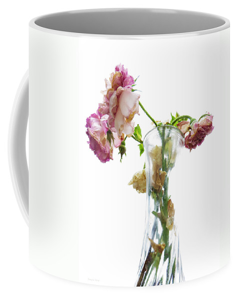 Roses Coffee Mug featuring the photograph Withering Away by Shawna Rowe