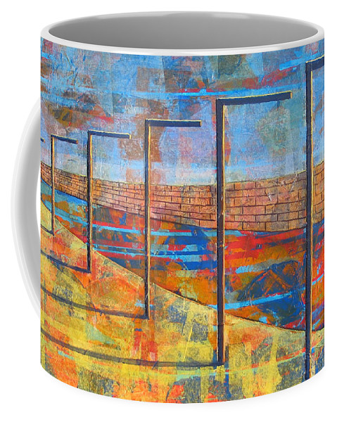 Landscape Coffee Mug featuring the painting Within These Walls by Rollin Kocsis