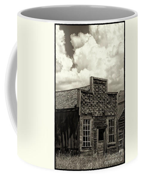 Black & White Coffee Mug featuring the photograph Withstanding The Years by Sandra Bronstein