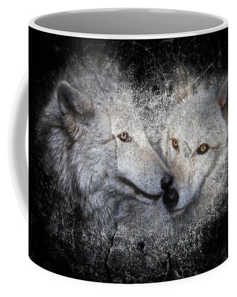 Wolves Coffee Mug featuring the photograph Grey Stone II by Athena Mckinzie