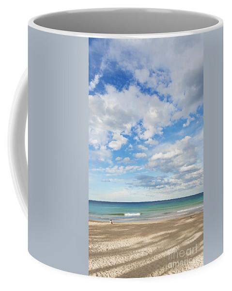 Australia Coffee Mug featuring the photograph Woman On Manly Beach In Sydney Australia by Jacek Malipan