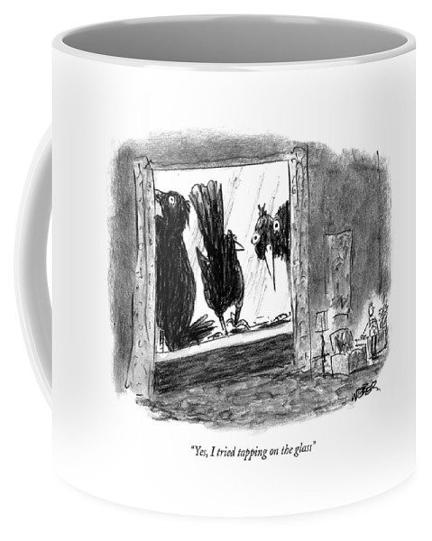 Nature Coffee Mug featuring the drawing Woman On The Phone by Robert Weber