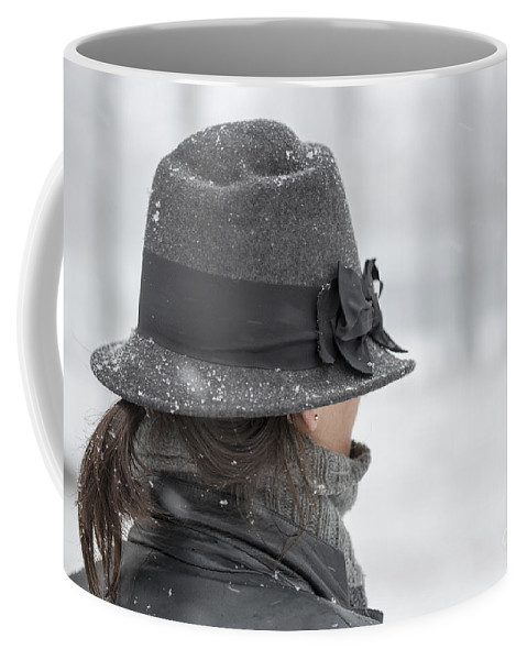 Woman Coffee Mug featuring the photograph Woman With Hat by Mats Silvan