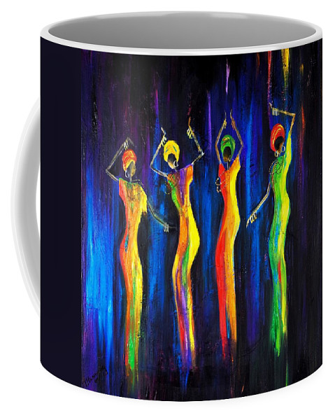 Women Paintings Coffee Mug featuring the painting Womens Day Celebration In South Africa by Marietjie Henning