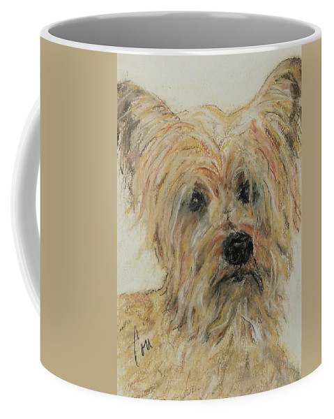 Terrier Coffee Mug featuring the drawing Wonder-ful by Cori Solomon