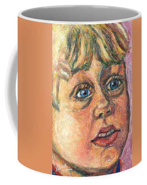 Portrait Coffee Mug featuring the painting Wonder by Kendall Kessler