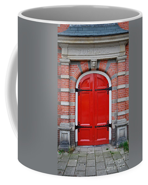 Door Coffee Mug featuring the photograph Wonderful Red by Steven Liveoak