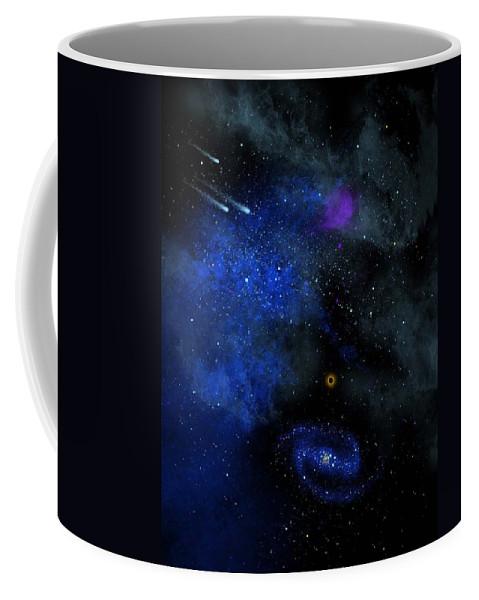 Wonders Of The Universe Mural Coffee Mug featuring the painting Wonders Of The Universe Mural by Frank Wilson