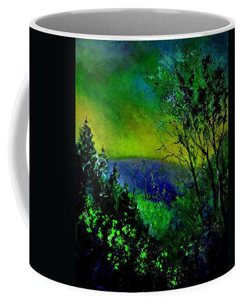 Wood Coffee Mug featuring the painting Wood 957 by Pol Ledent