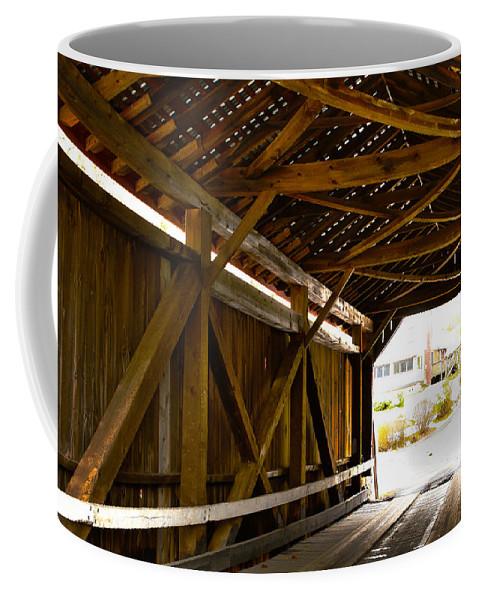Covered Bridge Coffee Mug featuring the photograph Wood Fame Bridge by Jeff Kurtz