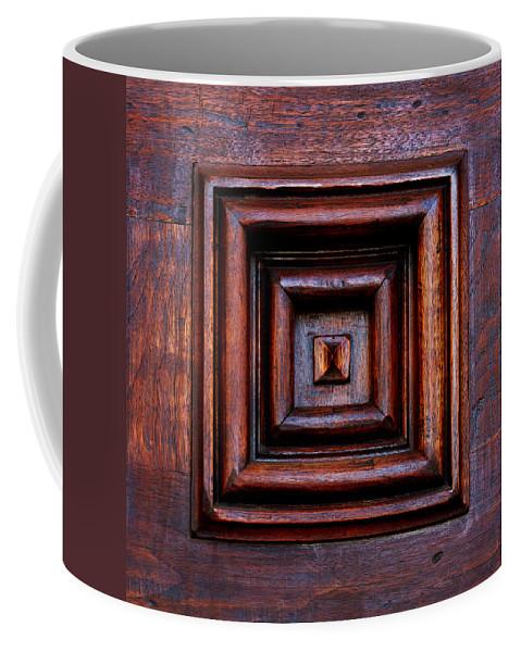 Santa Barbara Coffee Mug featuring the photograph Wood Panel by Art Block Collections