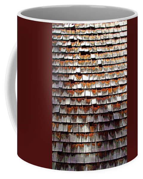 Wood Coffee Mug featuring the photograph Wood Roof Shingles by Duane McCullough