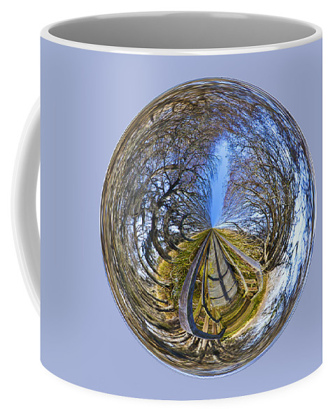 Orb Coffee Mug featuring the photograph Wooden Bridge Orb by Bill Barber
