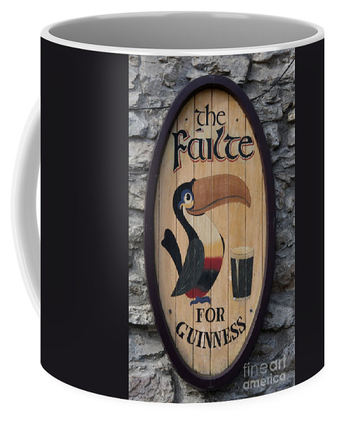 Guinness Sign Coffee Mug featuring the photograph Wooden Guinness Sign by Christiane Schulze Art And Photography