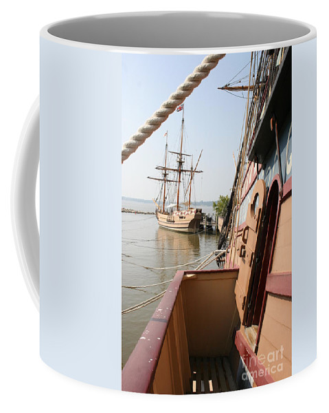 Ship Coffee Mug featuring the photograph Wooden Sailingships by Christiane Schulze Art And Photography