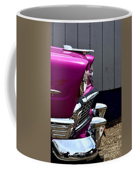 Chevy Coffee Mug featuring the photograph 55 Chevy by Dean Ferreira