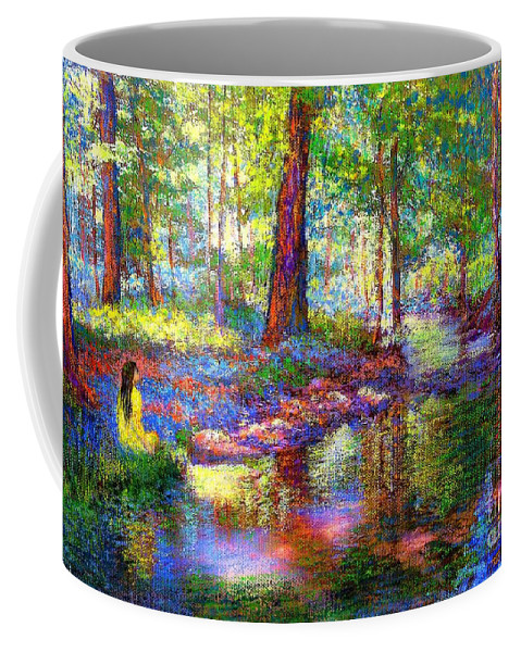 Forest Coffee Mug featuring the painting Woodland Rapture by Jane Small