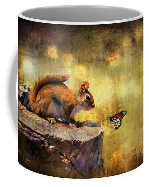 Wildlife Coffee Mug featuring the photograph Woodland Wonder by Lois Bryan