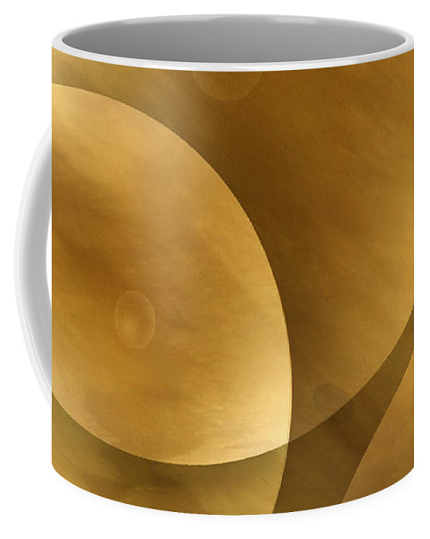 Abstract Coffee Mug featuring the photograph Worlds Collide 10 by Mike McGlothlen