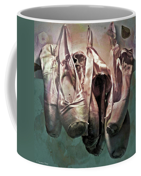 Ripped Coffee Mug featuring the photograph Worn Ballet Slippers by Suzanne Stout