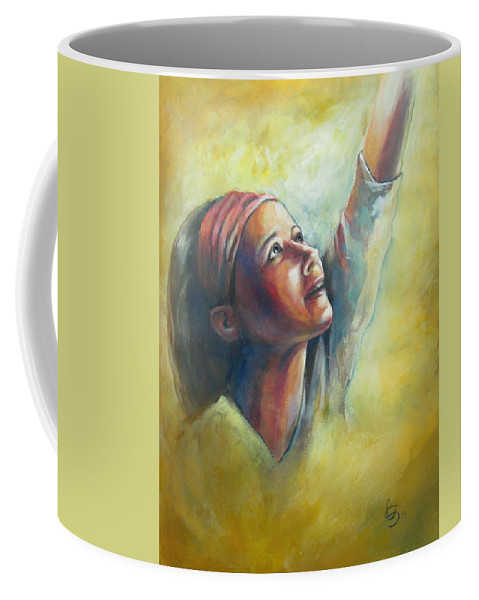 Worship Coffee Mug featuring the painting Worship by Tamer and Cindy Elsharouni
