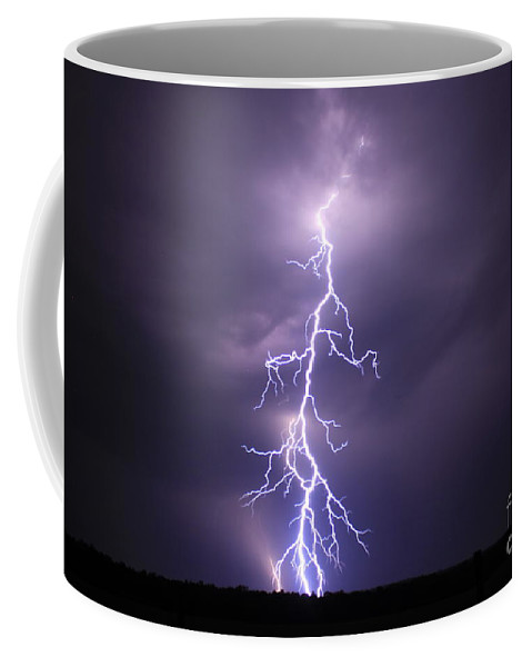 Best Lightning Shots Coffee Mug featuring the photograph Worthy Of Praise by Reid Callaway