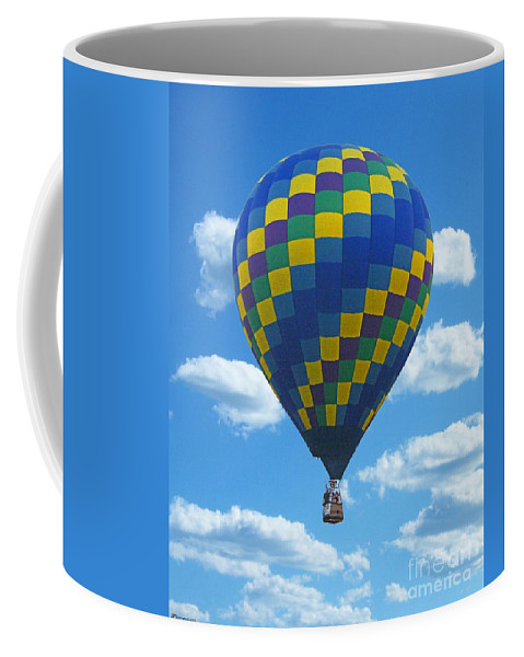Balloon Coffee Mug featuring the digital art Would You Like To Fly by Lizi Beard-Ward