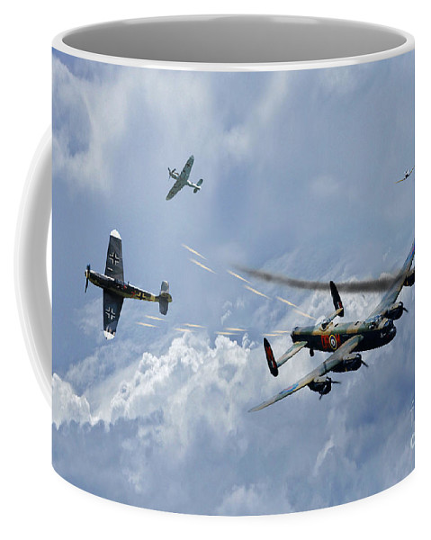 Raf Lancaster Bomber Coffee Mug featuring the digital art Wounded Warrior by J Biggadike