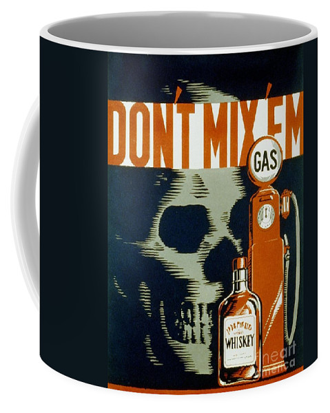 Gas Coffee Mug featuring the photograph Wpa Vintage Safety Poster by Edward Fielding