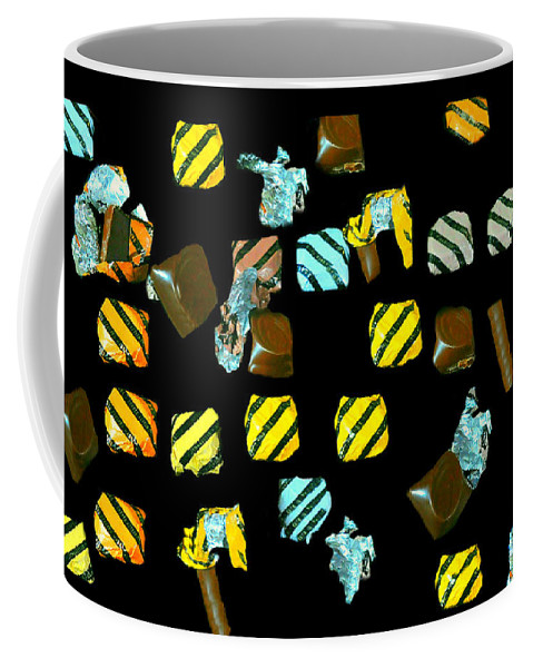 Candy Coffee Mug featuring the photograph Wrapped Chocolates by Diana Angstadt